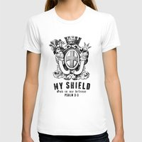 agents of shield T-shirts featuring Shield by J Evan