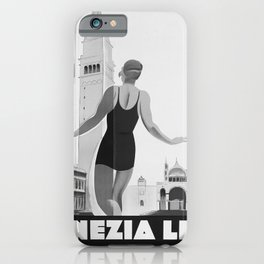 retro old ENIT Venezia Lido poster iPhone Case
