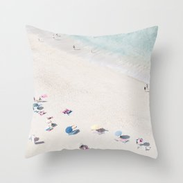Beach Love 1  (part of a diptych) Art Print Throw Pillow
