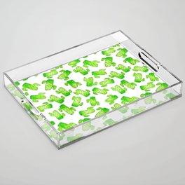 Watercolor Cacti Acrylic Tray