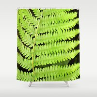 fern Shower Curtains featuring Fern by Kama Storie