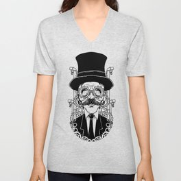 Steampunk Man Unisex V-Neck