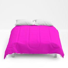 Pink neon color bright summer Comforters