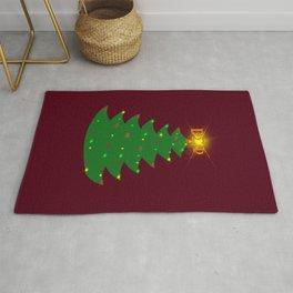 ΒΣΦ Christmas Tree on Deep Red (BSP) Rug