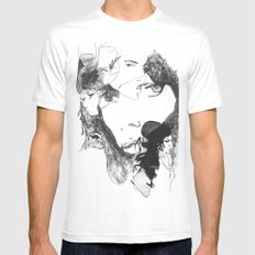 Thoughts of Amy White MEDIUM Mens Fitted Tee