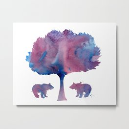 Bear Cubs Metal Print