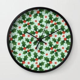 Holly & Mint Wall Clock