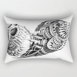 Red-Tail Skull Rectangular Pillow