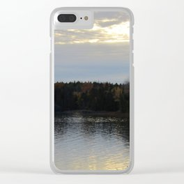 Downeast Autumn Reflections of Scattered Illuminations Clear iPhone Case