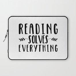 Reading Solves Everything Laptop Sleeve