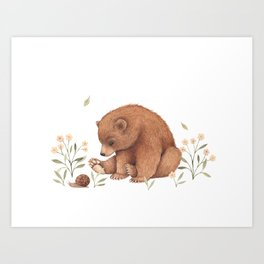Spring Bear Art Print