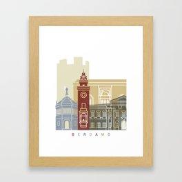 Bergamo skyline poster Framed Art Print