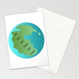 This Bitch Don't Know 'Bout Pangea Stationery Cards