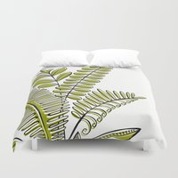 study Duvet Covers featuring Fern Study by Heather Dutton