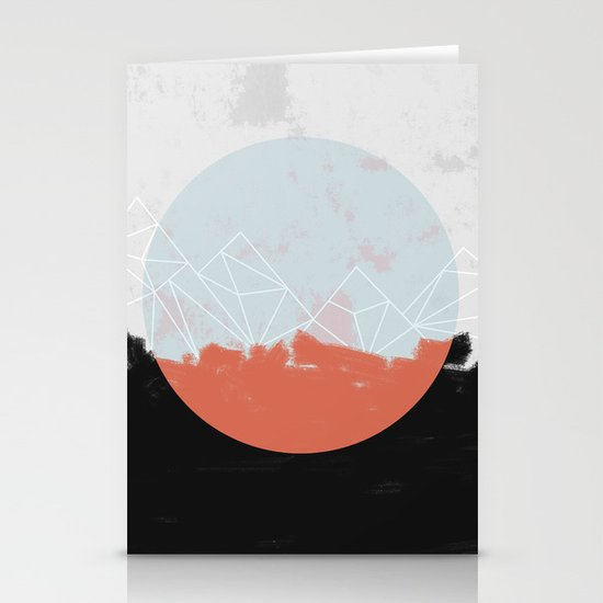 Landscape Abstract Stationery Cards