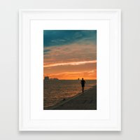 running Framed Art Prints featuring Running  by jmiguel