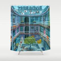 Budapest spring '15  Shower Curtain