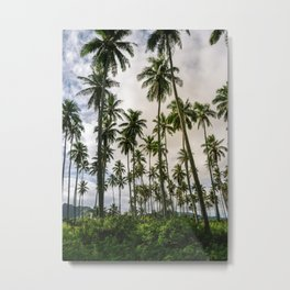 Palm Trees Kauai Hawaii Printable Wall Art | Tropical Beach Nature Ocean Coastal Travel Photography Print Metal Print