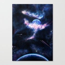Space Scene Zero One Canvas Print