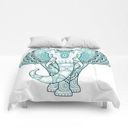 Turquoise Elephant Comforters