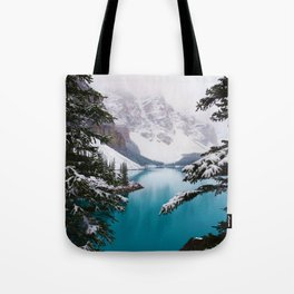 Paradise in the Mountains (Color) Tote Bag