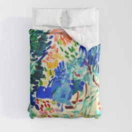 Henri Matisse Landscape at Collioure Duvet Cover