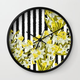 Daffodil - Birth Month Flower for March Wall Clock