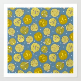 Pattern Project #47 / Skulls & Bulbs Art Print