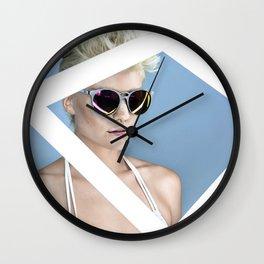 Reckess Blue Wall Clock