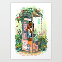 Phone Booth Art Print