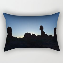 Balance Rock Silhouette  Rectangular Pillow