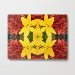 """A Gathering of Lilies"" Remix - 3 (3-1) [D4468~49] Metal Print"