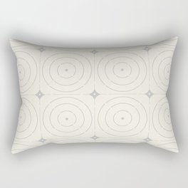 Creamy Bullseye Rectangular Pillow