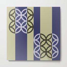 Striped Circles Pattern Metal Print