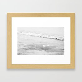 Monochrome Beach Framed Art Print