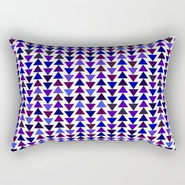 small pyramids pattern in Mysterious blues Rectangular Pillow