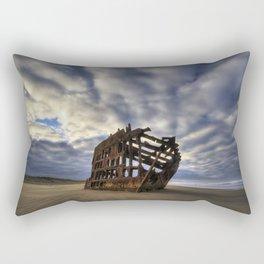 Peter Iredale Shipwreck Sunrise Rectangular Pillow