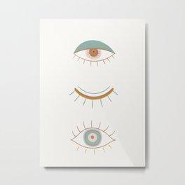 Evil Eyes II Metal Print