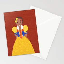 Princess Snow Stationery Cards