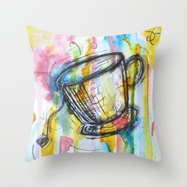 Sunshine and Tea Throw Pillow