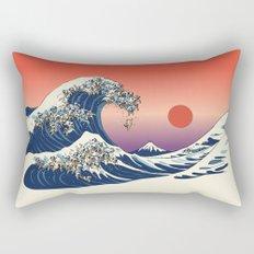 The Great Wave of Pug Rectangular Pillow