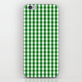 Christmas Green Gingham Check iPhone Skin