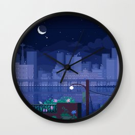 Seattle Nights Wall Clock
