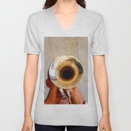 Blowing Jazz On A Rainy Day Unisex V-Neck