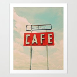 Retro Cafe sign.  Art Print