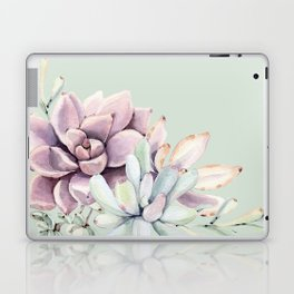 Beautiful Mint Succulents Laptop & iPad Skin