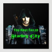 green arrow Canvas Prints featuring Arrow by SwanniePhotoArt