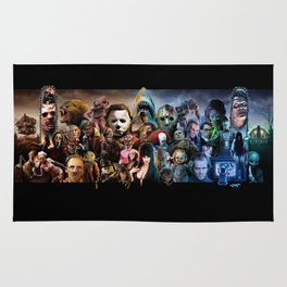 Classic Horror Movies Rug