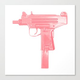 Pink machine gun Canvas Print