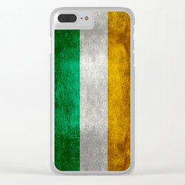 Republic of Ireland Flag, Vintage grungy Clear iPhone Case